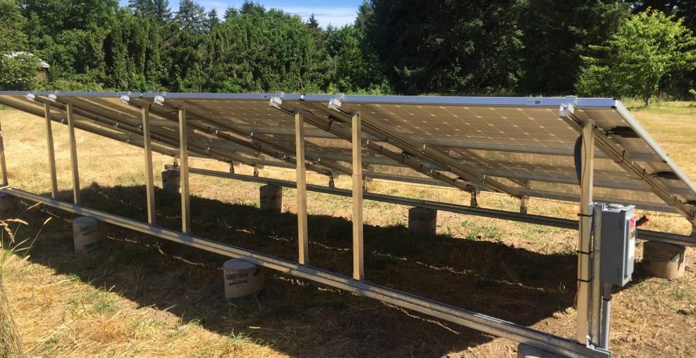 Roof Mounted Residential Solar Array by Abundant Solar of Corvallis Oregon